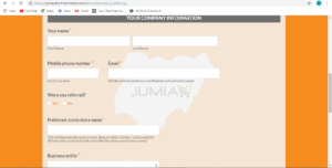 How to sell on Jumia-company information