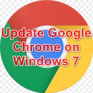 update Google chrome on windows 7