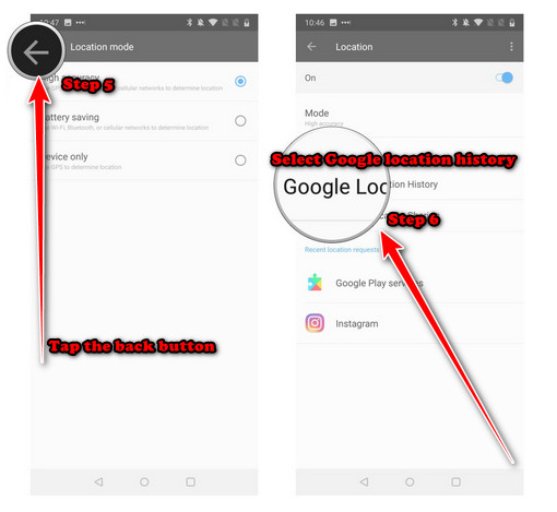 Enable Location Services on your Android