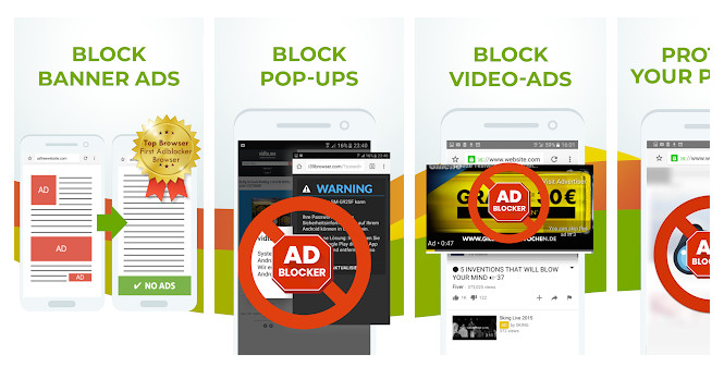 Free Adblocker Browser: Pop up Blocker