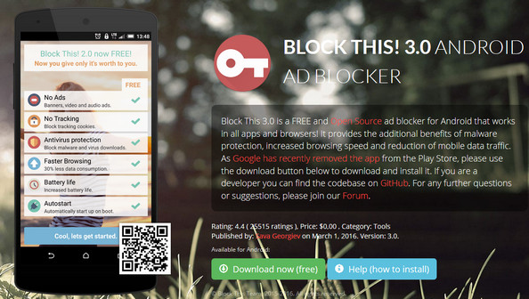 Block This – Pop up Blocker for Android