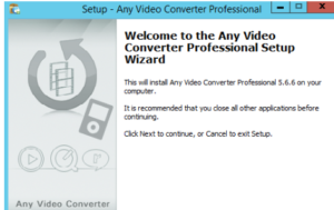 Any Video Converter Professional Setup