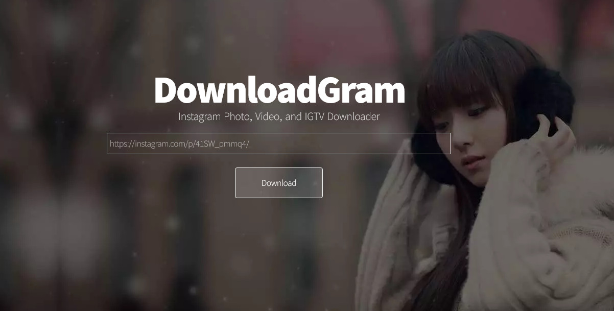 Instagram backup tools-DownloadGram