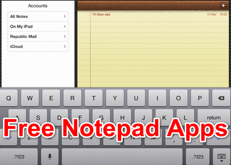 free notepad apps