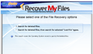 Recover My Files Free Download for Data Recovery-start recovery
