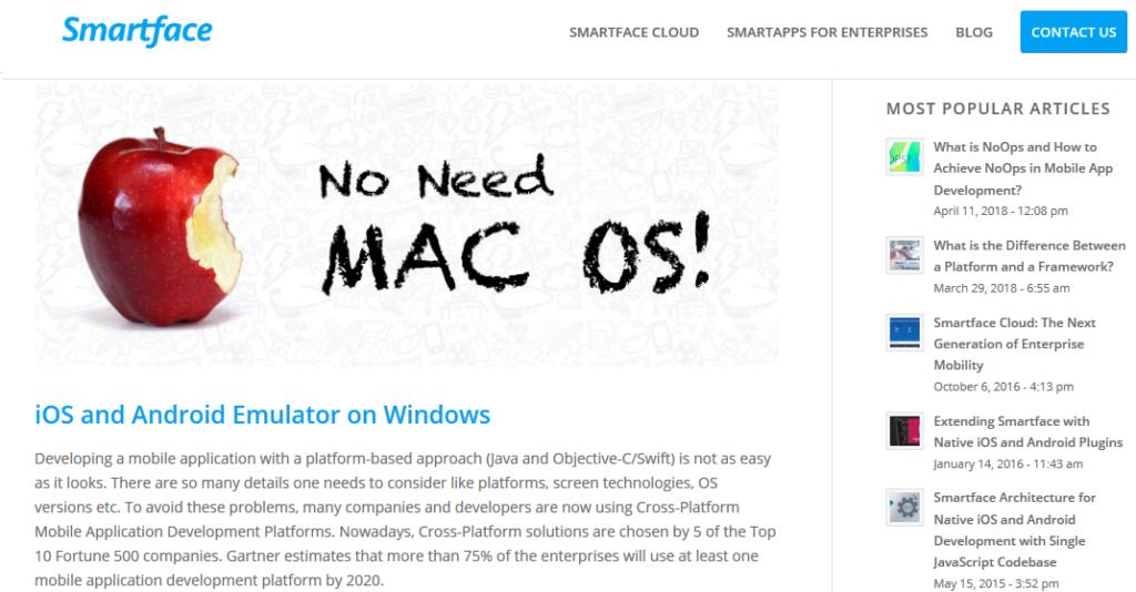 iPhone emulator for PC - SmartFace