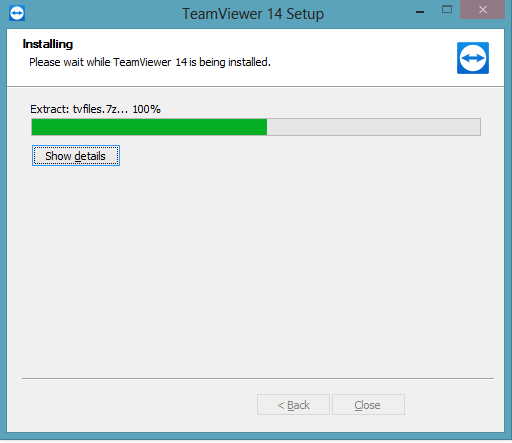 Installing the TeamViewer free trial