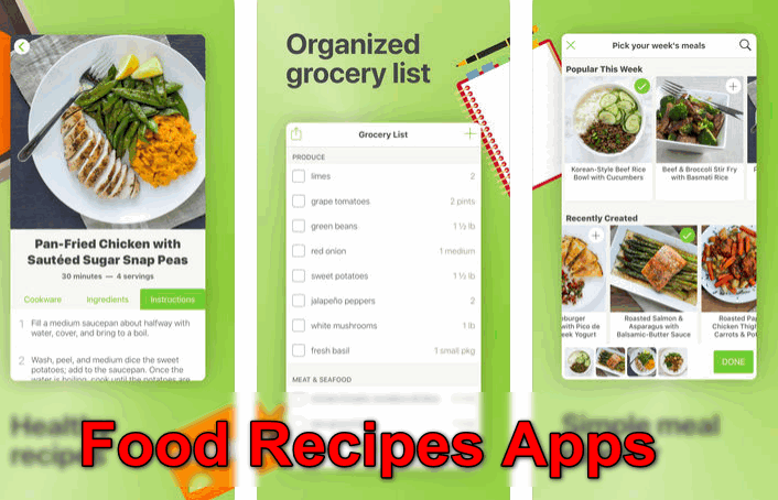 Food Recipes Apps