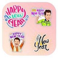 New Year sticker apps