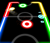 Two Player Game Apps-Glow Hockey