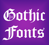 font style apps-Gothic Fonts