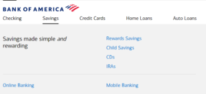 how to open a Bank of America account-savings