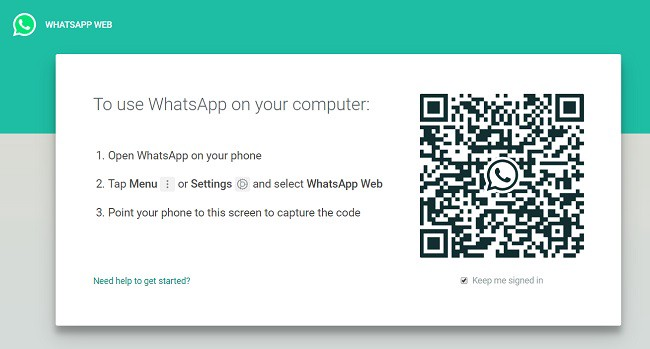 Whatsapp web app - Scan QR code