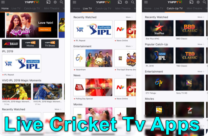 Live Cricket Tv Apps
