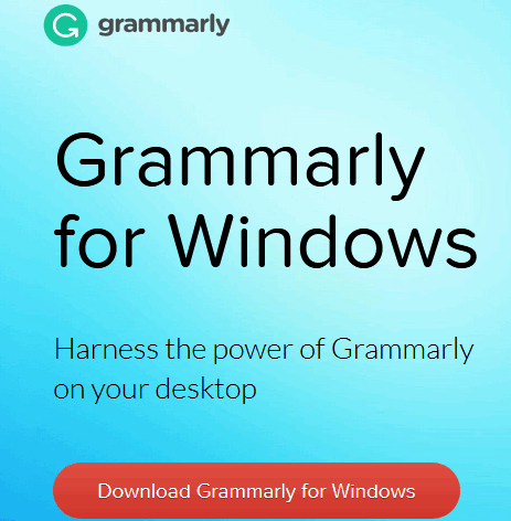 Grammarly for Windows 10
