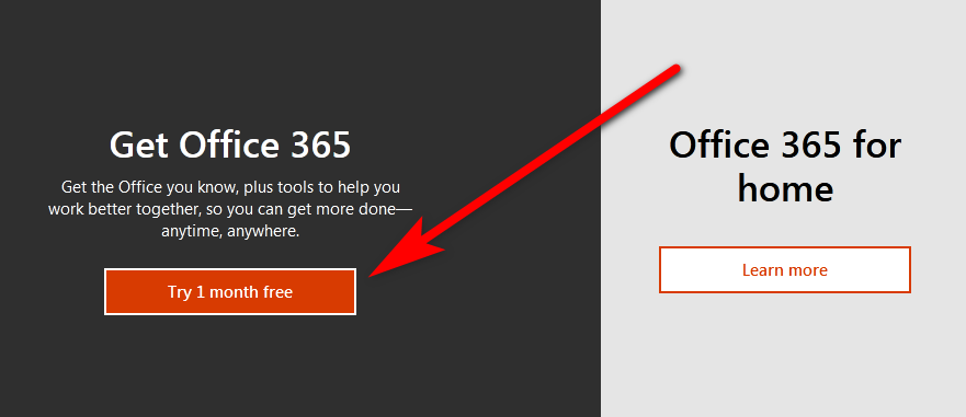 Try Office 365 download free