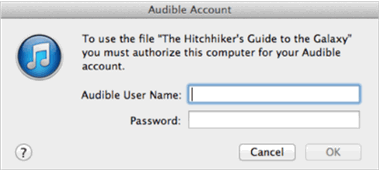Audible Download Manager Mac-authorize your account