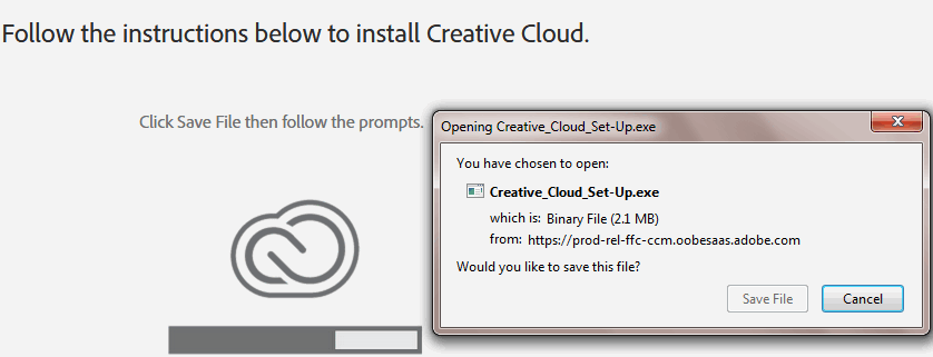 creative cloud download and install
