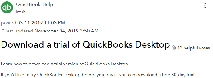 quickbooks free download