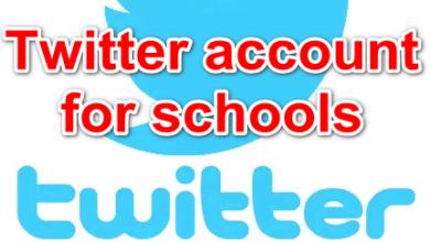 Twitter account for schools