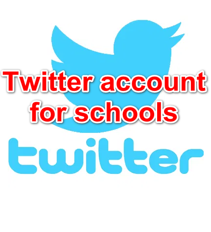Twitter account for schools