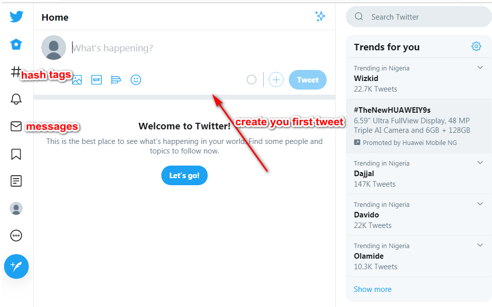 how to create a twitter account for business
