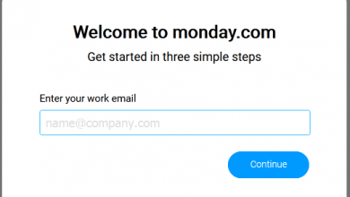 Monday free - enter work email