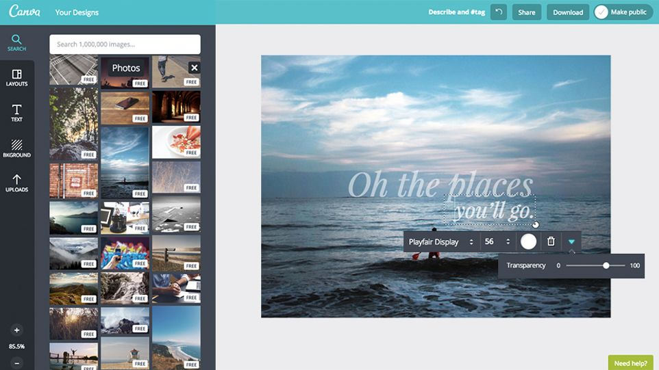 Canva free download transparency