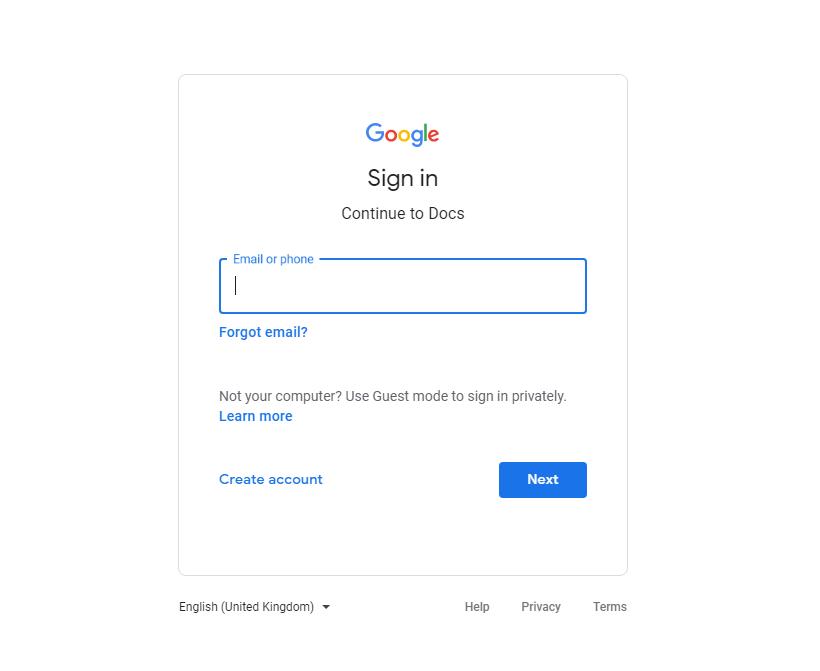 Google Docs Download