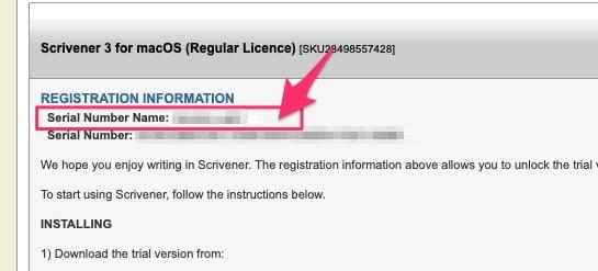 Scrivener license key 1