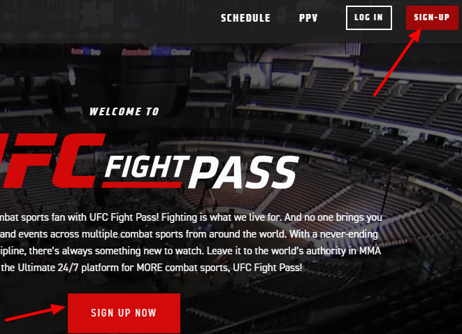 How to get ufc fight pass free trial