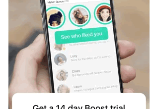 bumble free trial interface