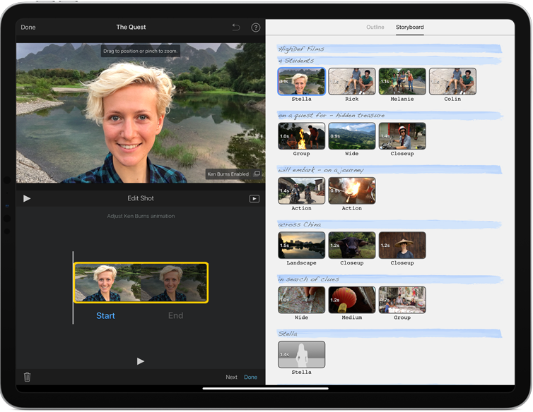 iMovie free download interface
