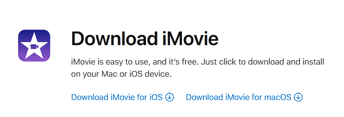 iMovie free download