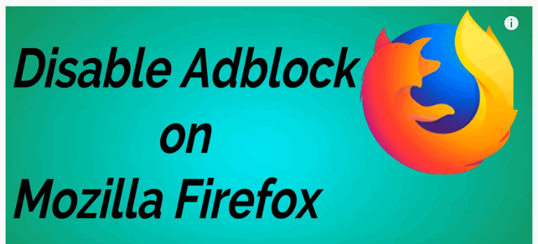 Disable AdBlock on mozilla